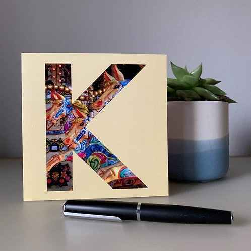 'K' Blank Card