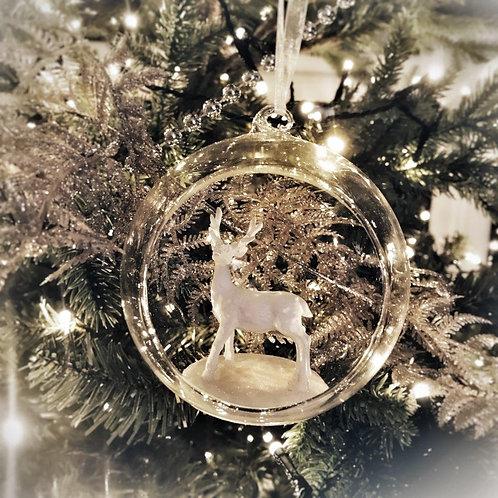Christmas Decoration - Stag Christmas Card