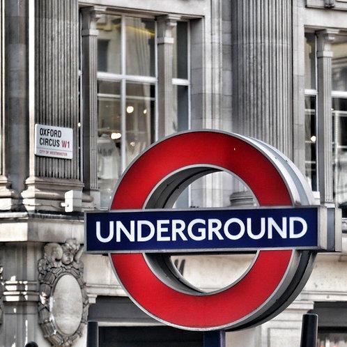 Underground Sign Blank Card