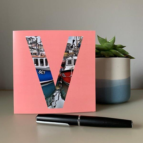 'V' Blank Card