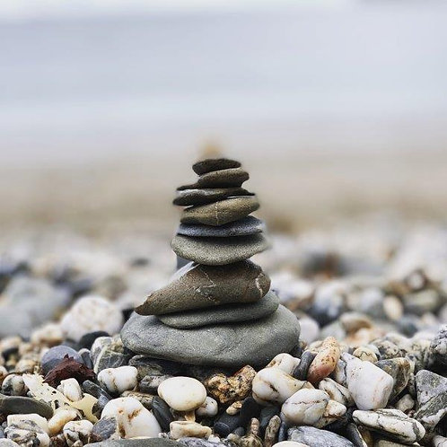 Balancing Stones Blank Card
