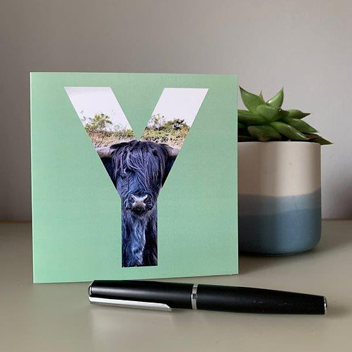 'Y' Blank Card