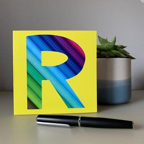 'R' Blank Card