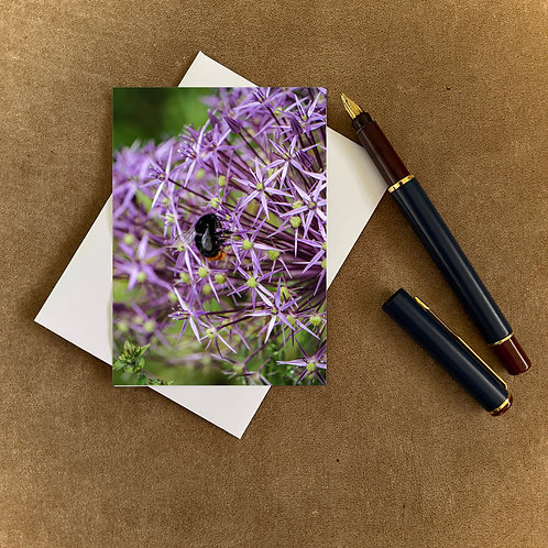 Allium and Bee Blank Mini Photocard