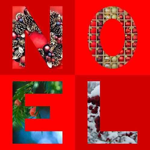 NOEL Letters  Christmas Card