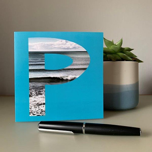 'P' Blank Card