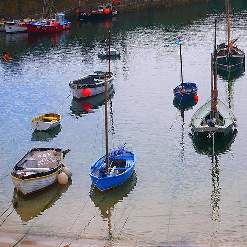 Mousehole Harbour Blank Card
