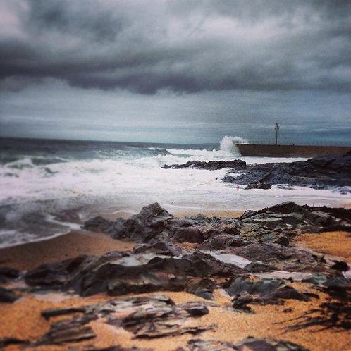 Stormy Beach Notecard