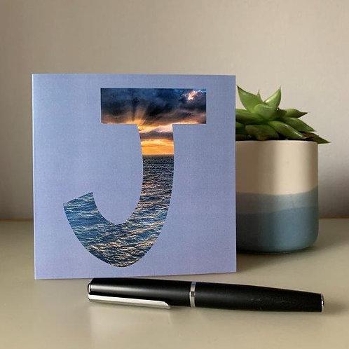 'J' Blank Card
