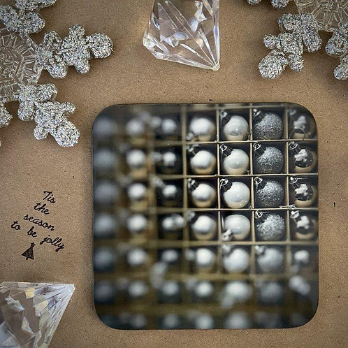 Silver Baubles Coaster