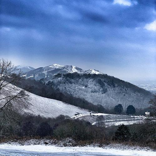 Snowy Hills Blank Card