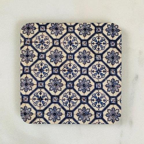 Lisbon Tiles - Blue  Coaster