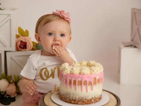 Olivia's One Year Birthday Photoshoot