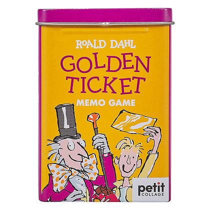 Roald Dahl Golden Ticket Memo Game