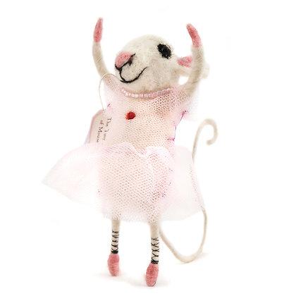 Beautiful Ballet Dancer Felt Mouse