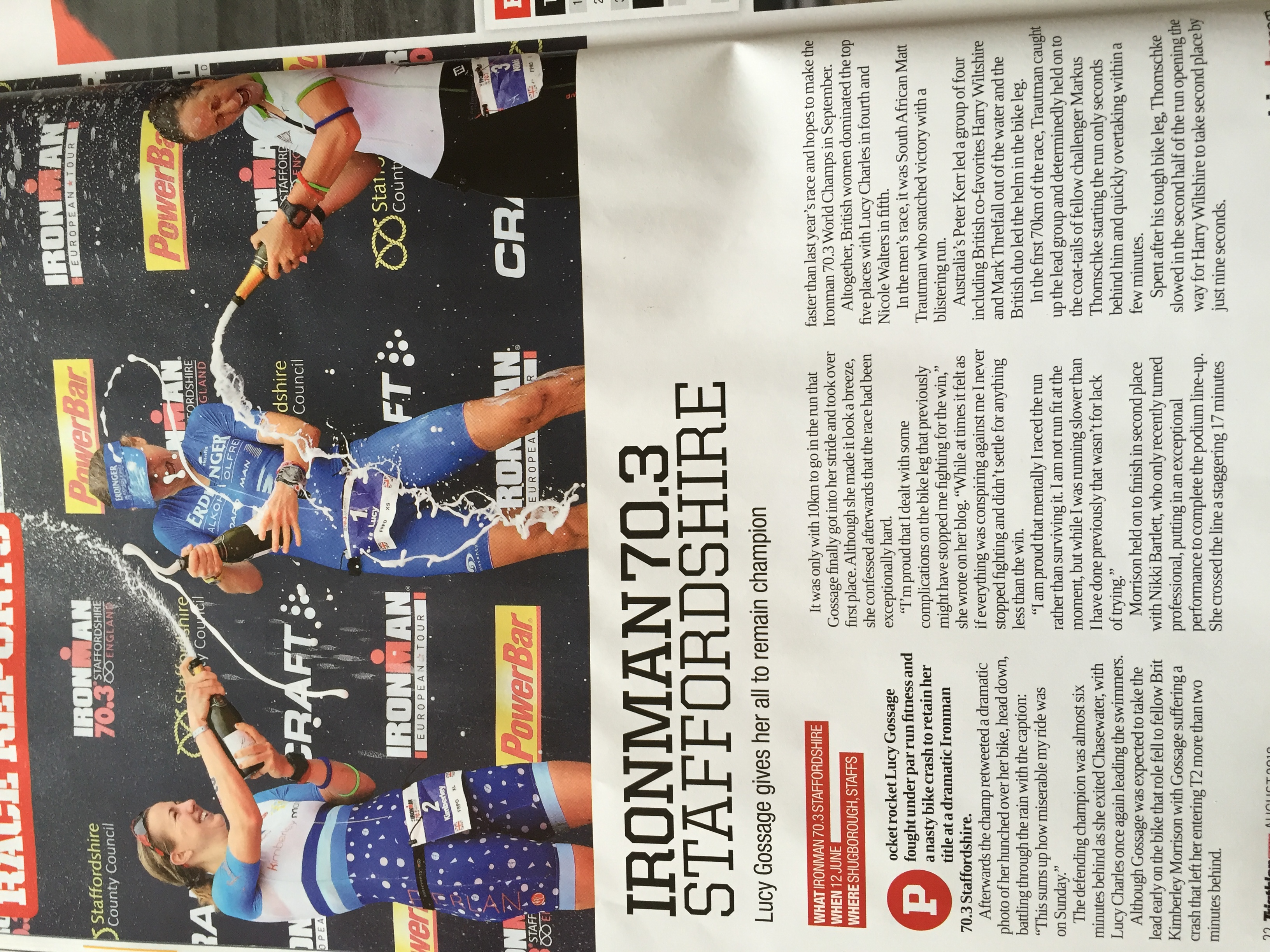 220 Triathlon Mag; IM Staffs 70.3