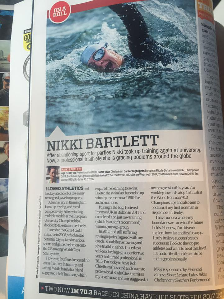 Triathlon Plus article; 2016