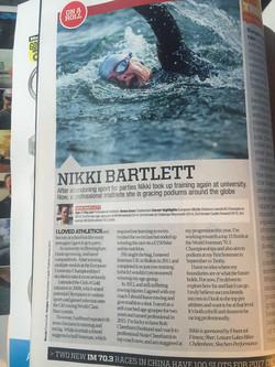 Triathlon Plus article; 2016