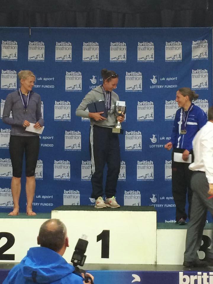 On the podium