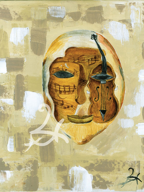 Violin Mask Print