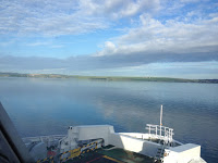 Catching the ferry over the Ireland