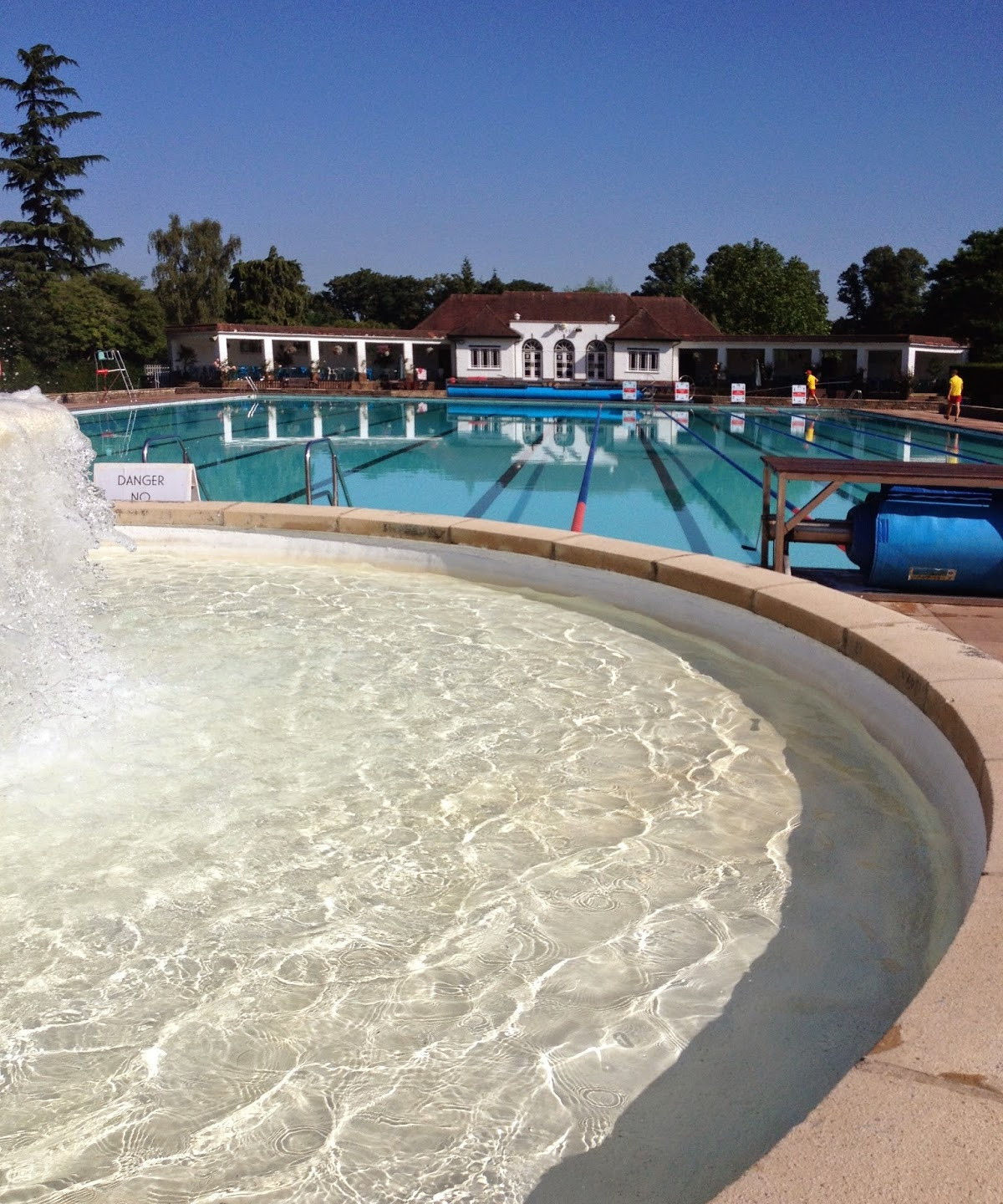 Cheltenham lido at its best.... training was going well in the lead up