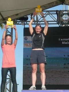 Enjoying the podium