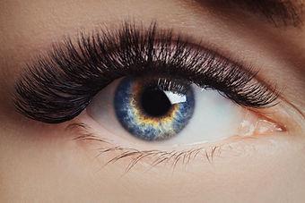 Eyelash extension procedure. Beautiful f