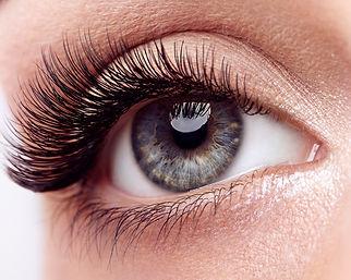 Female Eye with Extreme Long False Eyela
