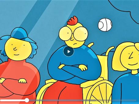 Filmukas apie teniso pamokas neįgaliems vaikams