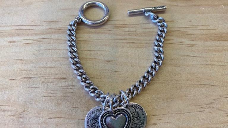 Bracelet Chaine Argent breloques