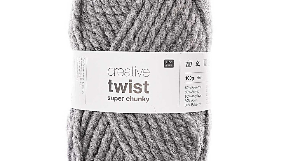 Creative twist super chunky gris clair
