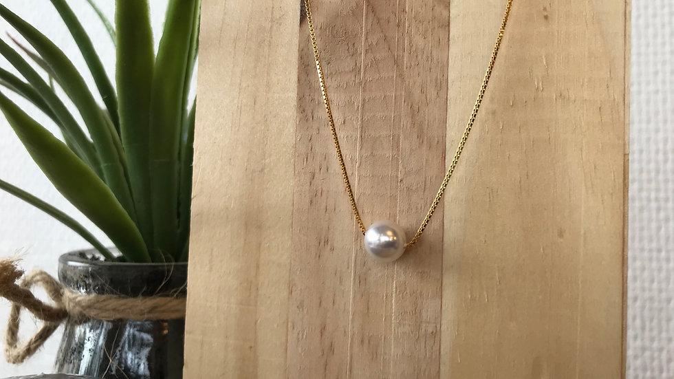 collier plaqué or perle de culture