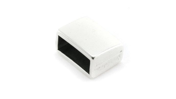 Passant Embout fermoir rectangle pour cuir plat 10mm