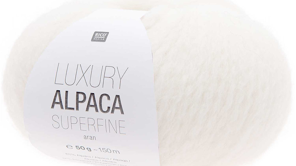LUXURY ALPACA SUPERFINE aran creme