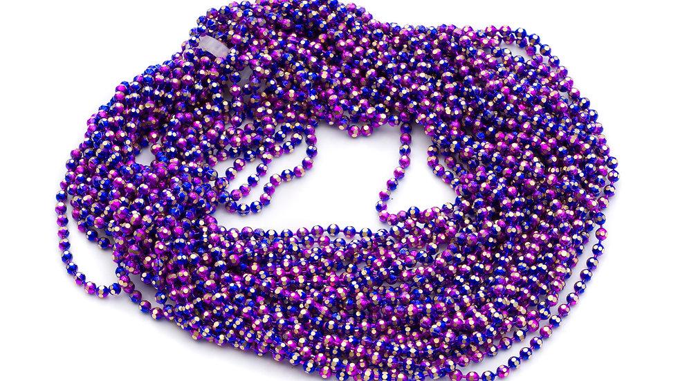 Chaîne boule 1,5mm electro fushia x 10 cm