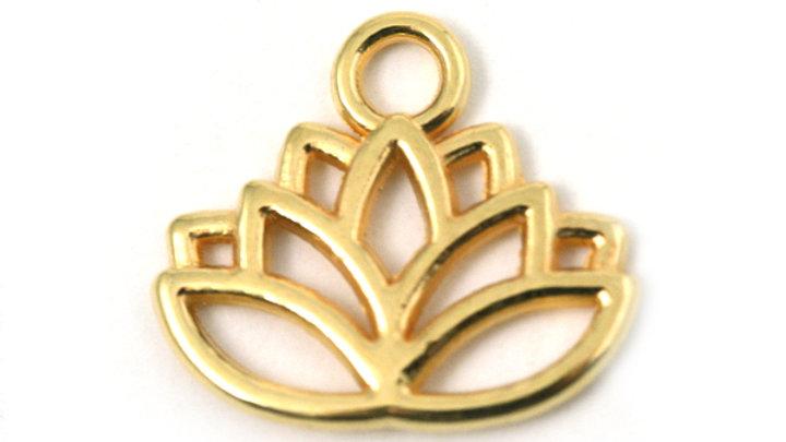 Feuille Lotus métal doré