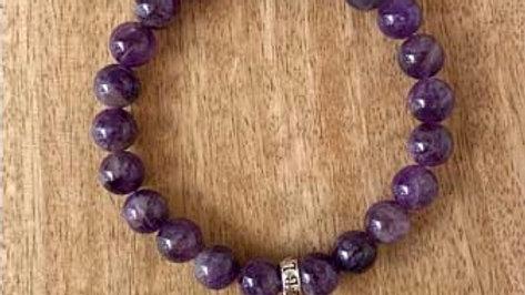 Bracelet pierres naturelles Améthyste