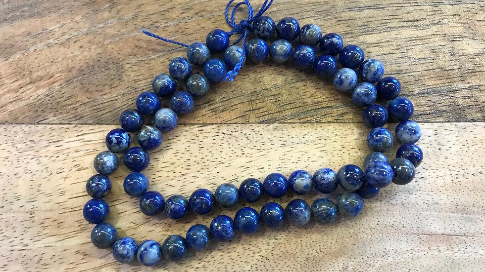 Lapis Lazuli A perles 6mm sur fil 40cm