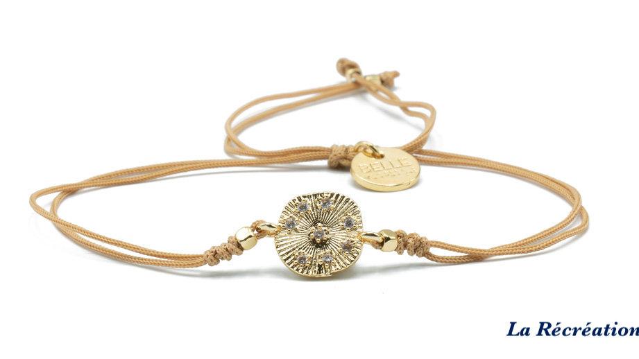Bracelet Belle Mais Pas Que Golden Blue Ocean