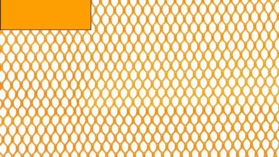 Tissu filet Mesh Fabric orange x 50 cm