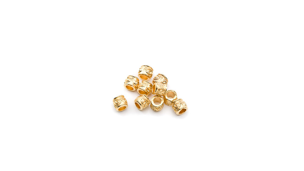 Perle petit tube 4mm doré
