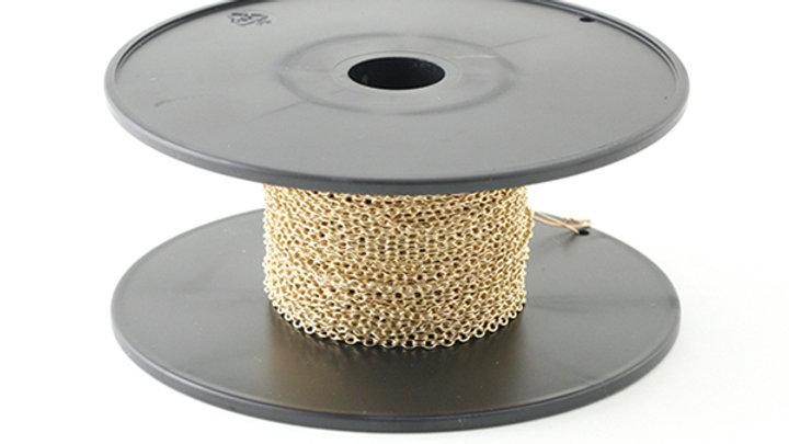 Chaîne fine laiton ovale Doré  2×1.4×0.4mm x 10cm
