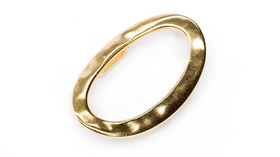 Passant pour cuir plat 10mm ovale 30x46mm doré x1pc