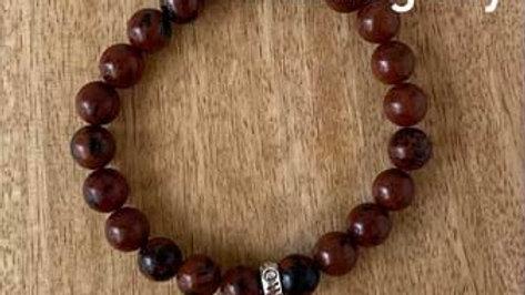 Bracelet pierres naturelles Onyx Mahogany