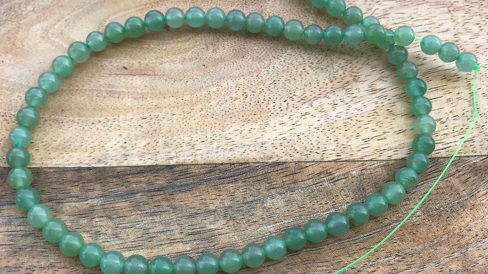 Aventurine verte perles 6mm sur fil 40cm