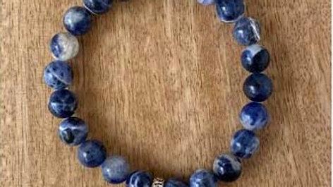 Bracelet pierres naturelles Sodalite