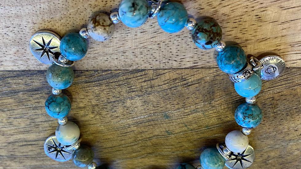 Bracelet élastique Stella Turquoise Océan