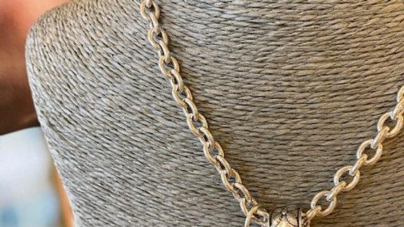 Collier Chaine 42cm cabochon Aventurine