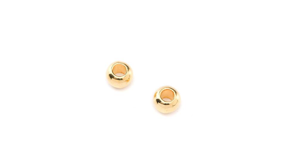 Perle 5*8mm doré